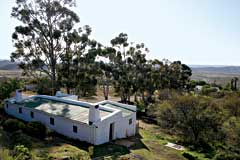 Historic bathhouses at Warmwaterberg Spa near Barrydale