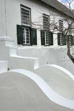 Steps to original front of the Drostdy, Swellendam. © Maré Mouton