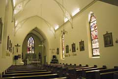 The interior of Saints Peter and Paul in George, the oldest Roman Catholic church in South Africa