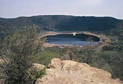 The Tswaing meteorite impact crater near Pretoria, South Africa. © Duncan Miller