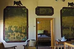 Murals in Rozenburg, an historic farm near Malmesbury, South Africa. Photo: Annalize Mouton