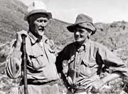 TP Stokoe (right) with Gen. J C Smuts at a Mountain Club meet in the Cederberg, 1939