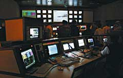 Control room at the OTB missile test range near Bredasdorp, South Africa