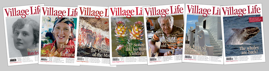A selection of seven Village Life magazine covers